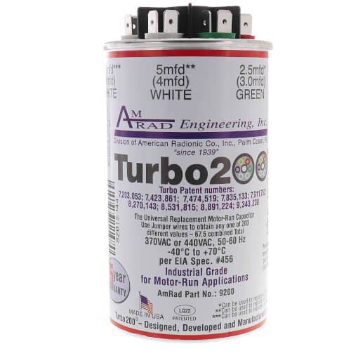 12200 MARS TURBO 200 DUAL CAPACITOR WITH A RANGE O
