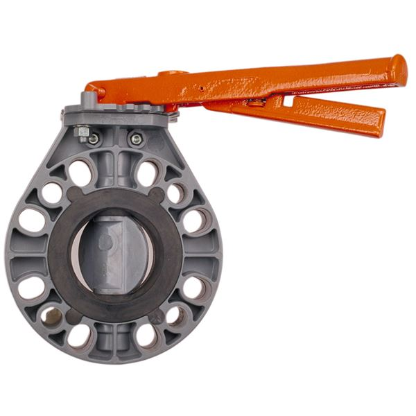 3inch W51BF-E-LH NIBCO CPVC BUTTERFLY VALVE WITH H