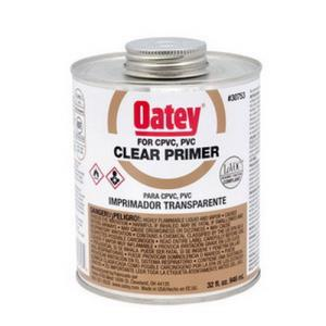 30753 OATEY 32OZ CLEAR PRIMER PVC CPVC 1 QUART