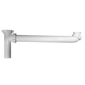 P9121B DEARBORN 1-1/2x21inch WHITE PVC END OUTLET
