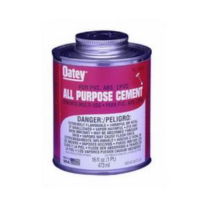 30834 OATEY ALL PURPOSE CEMENT - MILKY CLEAR 16OZ