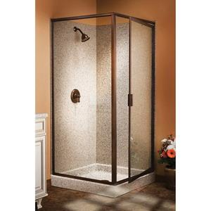 145-CL BASCO CLEAR/SILVER FRAMED GLASS 90degree CO