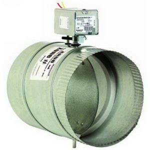 "Honeywell ARD12 24 VAC Galvanized Steel Single-Blade Round Automatic Damper, 12"""""""" Dia"