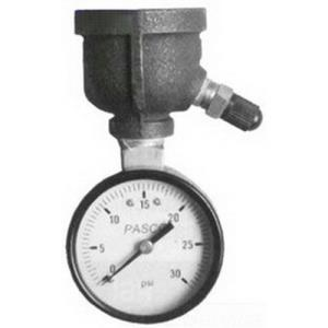 1410 PASCO 0-15# AIR TEST GAUGE 3/4INCH FEMALE INL