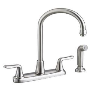 American Standard 4275.551 Colony? Soft Cast Brass 2-Lever Swivel Kitchen Faucet, Polished Chrome