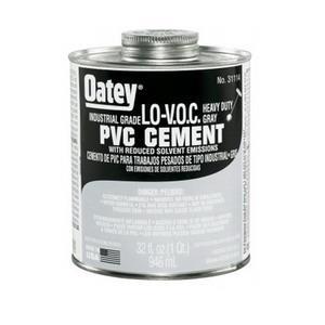 *31114 OATEY 32oz PVC LOVOC INDUSTRIAL GRAY