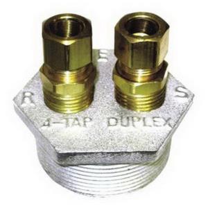 OEM 4476 2x1/2inch DUPLEX TANK BUSHING WITH COMPRE