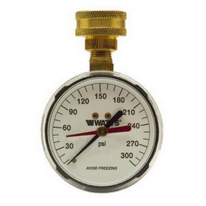 276-H300 WATTS WATER PRESSURE TEST GAUGE MOUNTS ON