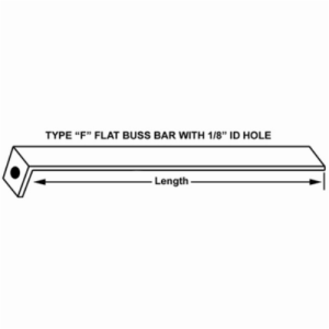 40320 CROWN 12inch BUSS BAR FLAT