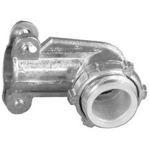 1/2INCH ANGLE BX CONNECTOR FITS STANDARD 3/8INCH B