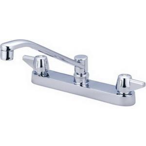 0122-A CENTRAL BRASS TOP MOUNT FAUCET WITH 8inch C