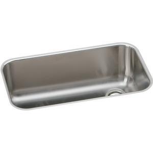 Elkay EGUH281610RDBG Gourmet? Stainless Steel Undermount Kitchen Sink, Polished Highlighted Satin