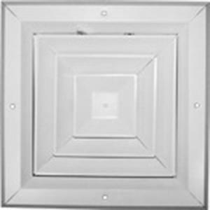 8x8 SQUARE ALUMINUM 4-WAY CEILING REGISTER WITH DA