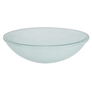 420819-S16 RONBOW OBSCURE GLASS OVAL UNDERMOUNT SI