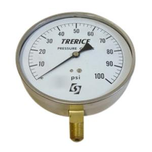 0-100psi TRERICE 4-1/2inch DIAL 1/4inch NPT LOWER