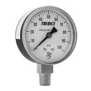 0-100psi TRERICE 4inch DIAL 1/4inch NPT LOWER MOUN