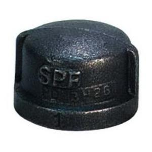 1-1/2inch BLACK MALLEABLE CAP